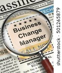 Business Change Manager....