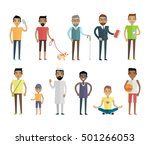 big set of male characters... | Shutterstock .eps vector #501266053