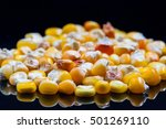 corn wheat heap  old sort ... | Shutterstock . vector #501269110