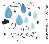 card design with text hello.... | Shutterstock .eps vector #501270706