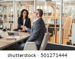 making a deal in the office... | Shutterstock . vector #501271444