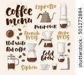 vector handwritten lettering.... | Shutterstock .eps vector #501272884