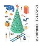 christmas  vector flat...   Shutterstock .eps vector #501273406