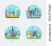 time to travel. travel to world.... | Shutterstock .eps vector #501273460
