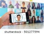biometric verification  face... | Shutterstock . vector #501277594