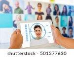 biometric verification  face... | Shutterstock . vector #501277630