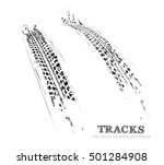 tire tracks background in black ... | Shutterstock .eps vector #501284908