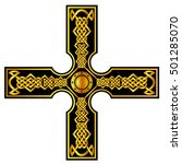 celtic cross tattoos.vector... | Shutterstock .eps vector #501285070