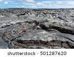 Close Up Magma In Lava Field...