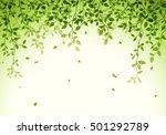 green leaves background   Shutterstock .eps vector #501292789