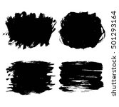 set of black hand drawn brush... | Shutterstock . vector #501293164