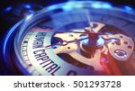 pocket watch face with human... | Shutterstock . vector #501293728