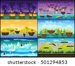 game background set..raster... | Shutterstock . vector #501294853