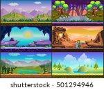 cartoon game design   nature...   Shutterstock . vector #501294946