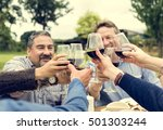 group of people cheers concept | Shutterstock . vector #501303244