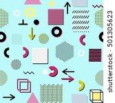 trendy geometric elements... | Shutterstock . vector #501305623