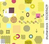 trendy geometric elements... | Shutterstock . vector #501305629