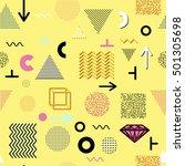 trendy geometric elements... | Shutterstock . vector #501305698