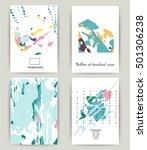 set of business card templates. ... | Shutterstock .eps vector #501306238