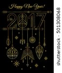 new year greeting card template ... | Shutterstock .eps vector #501308068