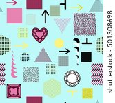 trendy geometric elements...   Shutterstock . vector #501308698