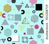 trendy geometric elements... | Shutterstock . vector #501308719