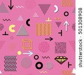 trendy geometric elements... | Shutterstock . vector #501308908