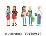 flat illustratuion set of... | Shutterstock .eps vector #501309694