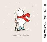 cute card with hand drawn polar ...   Shutterstock .eps vector #501312028