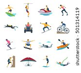 extreme sport activities flat... | Shutterstock .eps vector #501314119