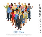 professional people group flat... | Shutterstock .eps vector #501315220