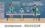 laboratory assistants work in... | Shutterstock .eps vector #501315229
