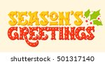 seasons greetings. hand drawn... | Shutterstock .eps vector #501317140