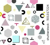trendy geometric elements... | Shutterstock . vector #501317224
