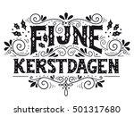 fijne kerstdagen  dutch word... | Shutterstock .eps vector #501317680