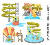 colorful aquapark set of... | Shutterstock .eps vector #501321094