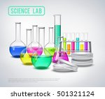 laboratory bottles composition... | Shutterstock .eps vector #501321124