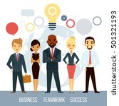 team of professional successful ... | Shutterstock .eps vector #501321193