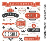 sale tags and labels design... | Shutterstock .eps vector #501325858