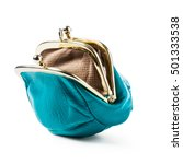 Blue Coin Purse Isolated On...