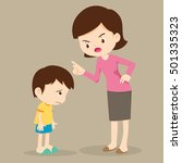 mother scolds her son.mother... | Shutterstock .eps vector #501335323