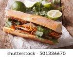 vietnamese pork banh mi... | Shutterstock . vector #501336670