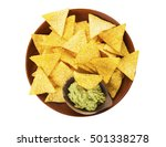 nachos and salsa. tortilla... | Shutterstock . vector #501338278