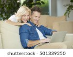 shot of an affectionate happy... | Shutterstock . vector #501339250