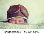 sweet little baby dreaming of... | Shutterstock . vector #501345343
