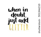 girly girl cute vector quote  ... | Shutterstock .eps vector #501346210