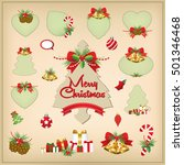 set of christmas frames vector... | Shutterstock .eps vector #501346468