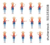 big set of old farmer... | Shutterstock .eps vector #501353038