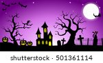vector illustration of a spooky ... | Shutterstock .eps vector #501361114