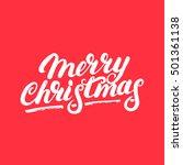 merry christmas hand written... | Shutterstock .eps vector #501361138
